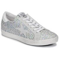 Skor Dam Sneakers Meline GARAMINE Vit / Silverfärgad