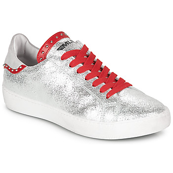 Skor Dam Sneakers Meline GARILOU Silver / Röd
