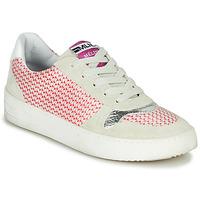 Skor Dam Sneakers Meline GUILI Beige / Röd