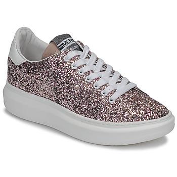 Skor Dam Sneakers Meline GEYSI Glitter / Rosa
