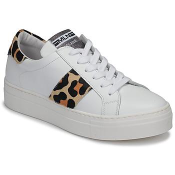 Skor Dam Sneakers Meline GETSET Vit / Leopard
