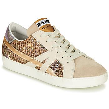 Skor Dam Sneakers Meline GALLI Guldfärgad