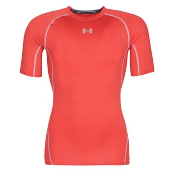 textil Herr T-shirts Under Armour UA HEATGEAR ARMOUR Röd