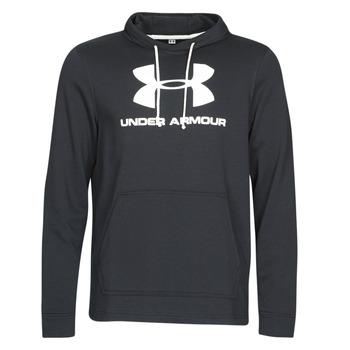 textil Herr Sweatshirts Under Armour SPORTSTYLE TERRY LOGO HOODIE Svart