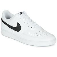 Skor Herr Sneakers Nike COURT VISION LOW Vit / Svart
