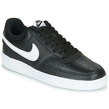 Skor Dam Sneakers Nike COURT VISION LOW Svart / Vit
