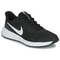 Skor Barn Träningsskor Nike REVOLUTION 5 GS Svart / Vit