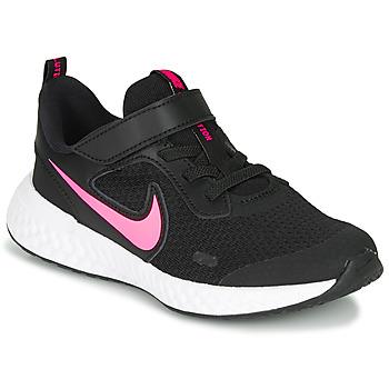 Skor Flickor Träningsskor Nike REVOLUTION 5 PS Svart / Rosa