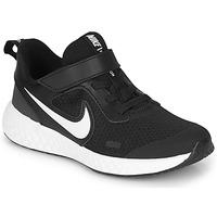 Skor Barn Träningsskor Nike REVOLUTION 5 PS Svart / Vit