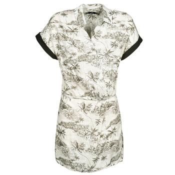 textil Dam Korta klänningar Volcom VACAY ME SS DRESS Vit