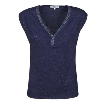 textil Dam T-shirts Morgan DMAYA Marin