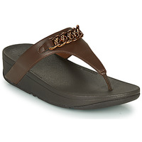 Skor Dam Flip-flops FitFlop LOTTIE CHAIN TOE-THONGS Brun