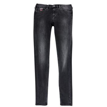 textil Flickor Stuprörsjeans Pepe jeans PAULETTE Svart