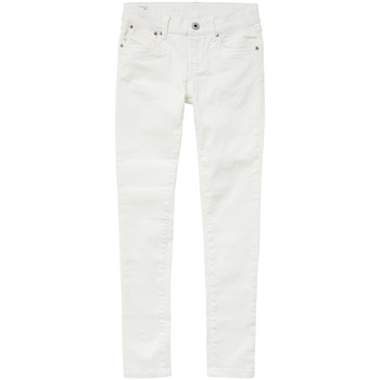 textil Flickor Skinny Jeans Pepe jeans PIXLETTE Vit