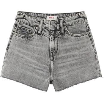 textil Flickor Shorts / Bermudas Pepe jeans ROXIE Grå