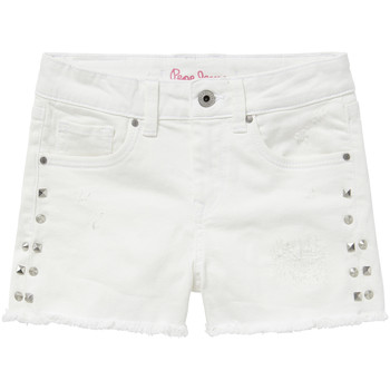 textil Flickor Shorts / Bermudas Pepe jeans ELSY Vit