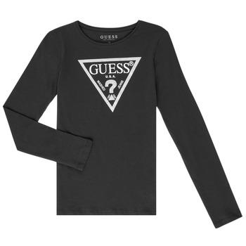 textil Flickor Långärmade T-shirts Guess GARICE Svart