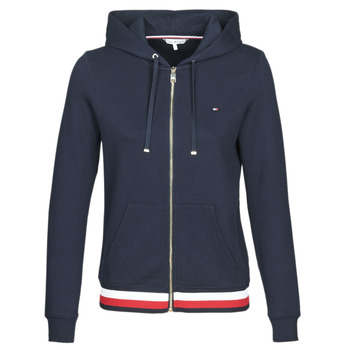 textil Dam Sweatshirts Tommy Hilfiger HERITAGE ZIP THROUGH HOODIE Marin