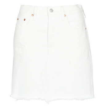 textil Dam Kjolar Levi's HR DECON ICONIC BF SKIRT Pearly / Vit
