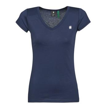 textil Dam T-shirts G-Star Raw EYBEN SLIM V T WMN SS Blå