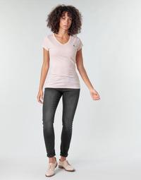 textil Dam Skinny Jeans G-Star Raw LYNN MID SKINNY WMN Grå