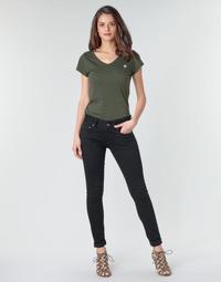textil Dam Skinny Jeans G-Star Raw MIDGE CODY MID SKINNY WMN Svart