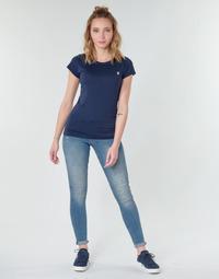 textil Dam Skinny Jeans G-Star Raw MIDGE ZIP MID SKINNY WMN Blå