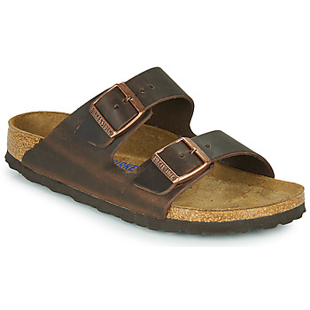 Skor Dam Tofflor Birkenstock ARIZONA SFB LEATHER Brun