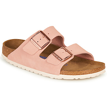 Skor Dam Tofflor Birkenstock ARIZONA SFB LEATHER Rosa