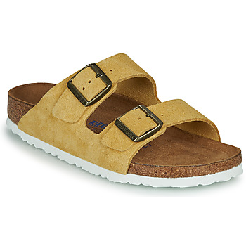 Skor Dam Tofflor Birkenstock ARIZONA SFB LEATHER Senapsgul