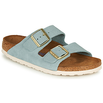 Skor Dam Tofflor Birkenstock ARIZONA SFB LEATHER Blå