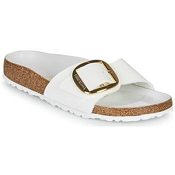Skor Dam Tofflor Birkenstock MADRID BIG BUCKLE Vit / Lack
