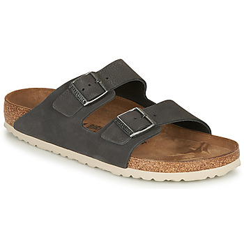 Skor Herr Tofflor Birkenstock ARIZONA LEATHER Grå / Mörk