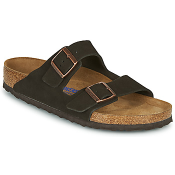 Skor Herr Tofflor Birkenstock ARIZONA SFB LEATHER Brun
