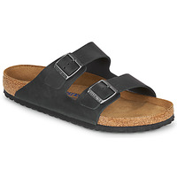 Skor Herr Tofflor Birkenstock ARIZONA SFB LEATHER Svart