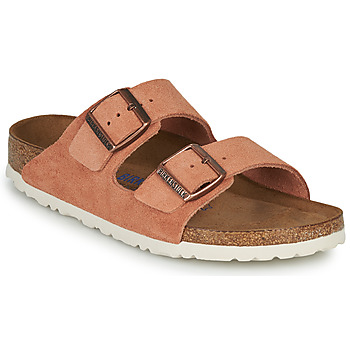Skor Dam Tofflor Birkenstock ARIZONA SFB LEATHER Rostfärgad