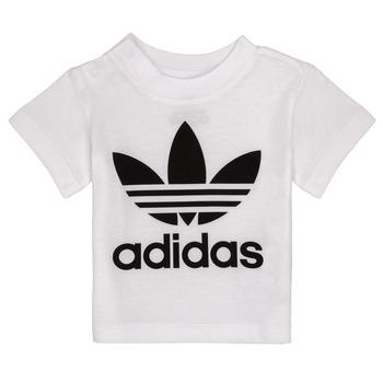textil Barn T-shirts adidas Originals MAELYS Vit