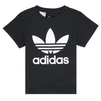 textil Barn T-shirts adidas Originals LEILA Svart