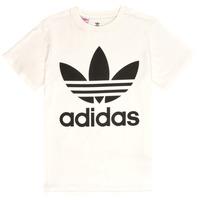 textil Barn T-shirts adidas Originals SARAH Vit