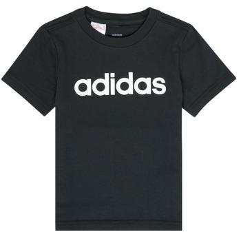 textil Pojkar T-shirts adidas Performance NATAZO Svart