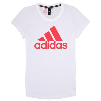 textil Flickor T-shirts adidas Performance ELIOTE Vit