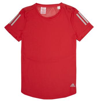 textil Flickor T-shirts adidas Performance MELINDA Röd