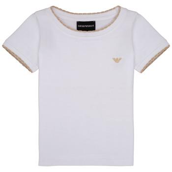 textil Flickor T-shirts Emporio Armani Allan Vit