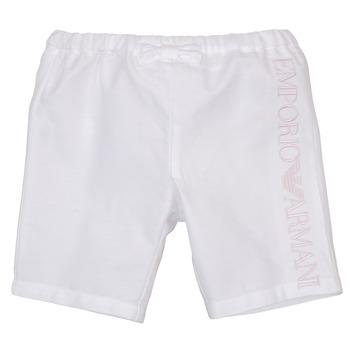 textil Flickor Shorts / Bermudas Emporio Armani Aniss Vit