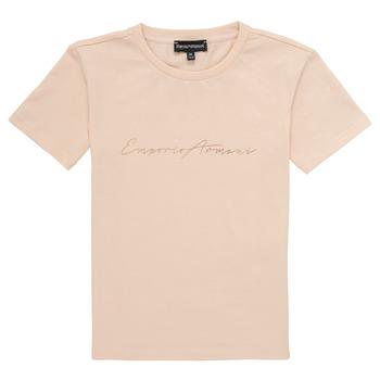 textil Flickor T-shirts Emporio Armani Armel Rosa