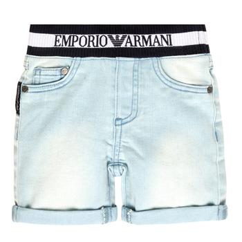 textil Pojkar Shorts / Bermudas Emporio Armani Ariel Blå