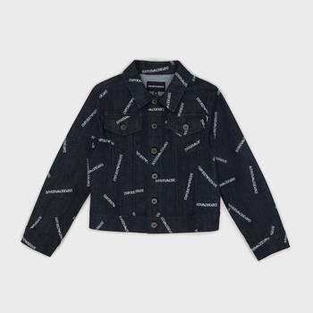 textil Pojkar Jeansjackor Emporio Armani Angelo Blå