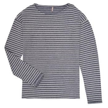 textil Flickor Långärmade T-shirts Only KONNELLY Vit / Marin