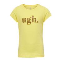 textil Flickor T-shirts Only KONJULLA Gul
