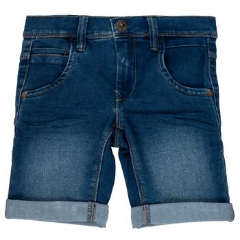 textil Flickor Shorts / Bermudas Name it NKMSOFUS Blå